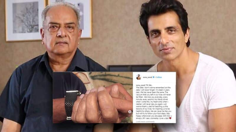 sonu sood write emotional post for his father on his death anniversary