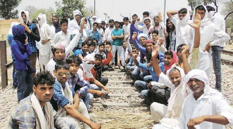 Gujjar protester staging protest for five percent reservation, five district effected due to fierce in state