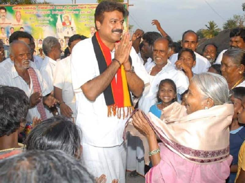 DMDK Candidate L.K.Sudish is going to temples for election victory
