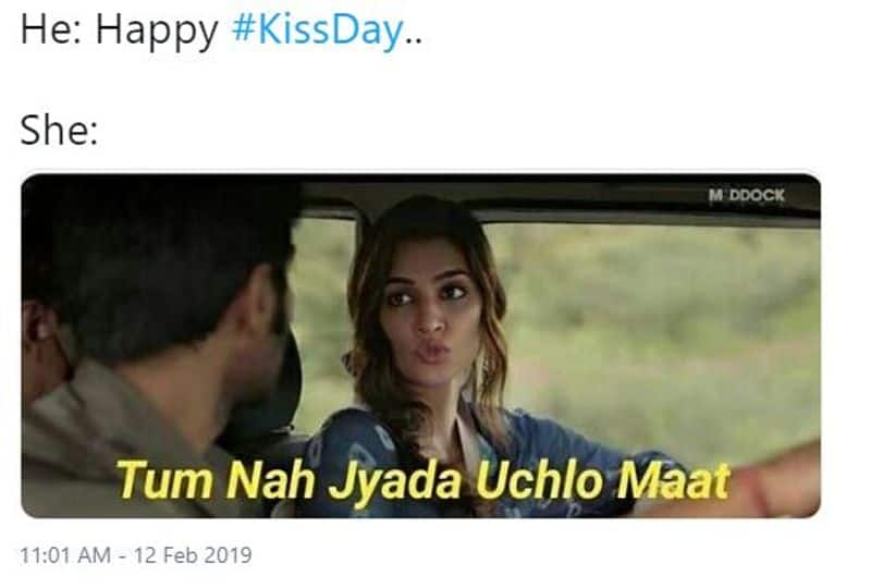 #kissday: watch single peoples creativity on this kiss day