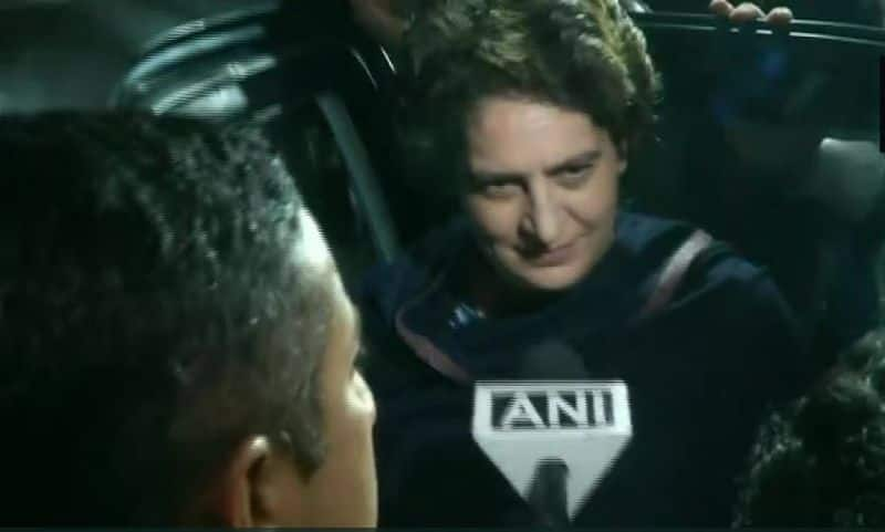 priyanka gandhi lucknow says i am not fighting pm modi but rahul is fighting