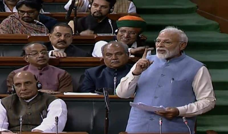 Last Lok Sabha speech before 2019 polls, Prime Minister Narendra Modi takes dig at Rahul Gandhi