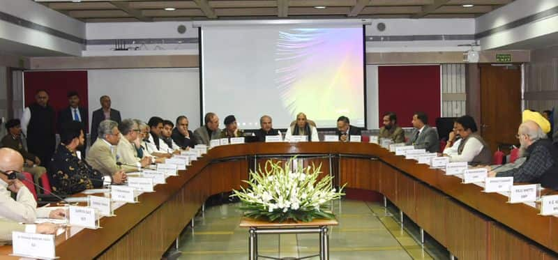 Rajnath Singh Briefs Leaders On Pulwama Attack At All Party Meet In Delhi