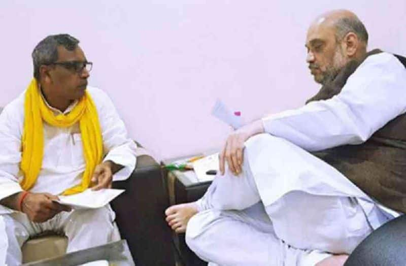 Amit shah assured op Rajbhar for his demand, yogi allotted office for his party