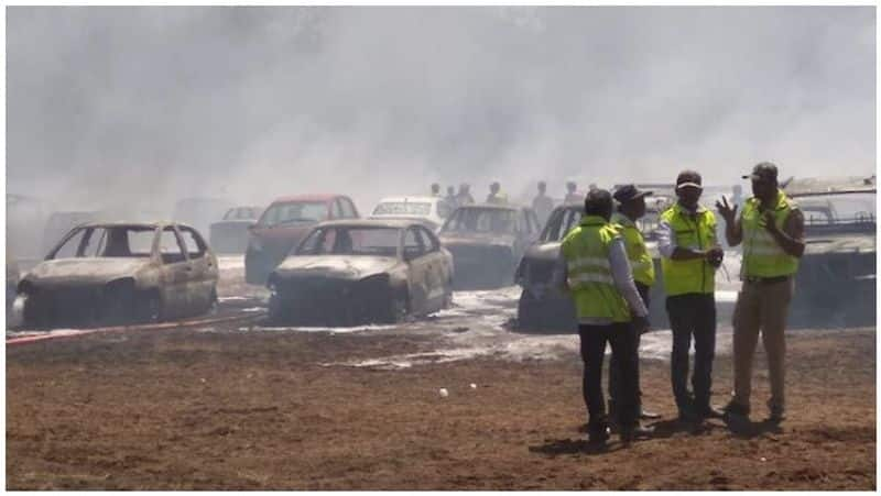 Fire at Aero India parking lot nearly 300 car Burnt how to claim insurance here is the details