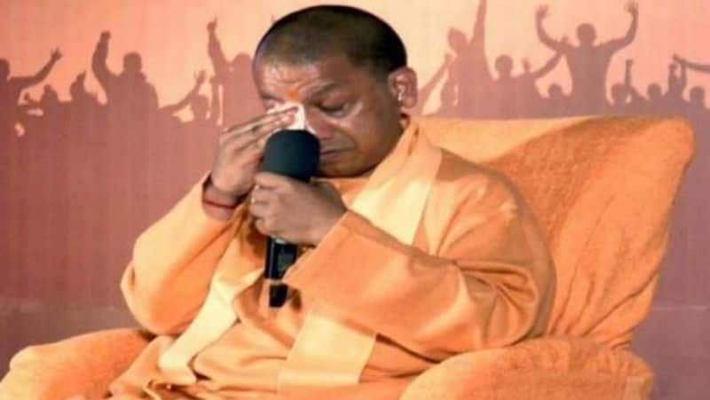 UP CM Adityanath cried during man ki bat in Lucknow because of Pulwama attack