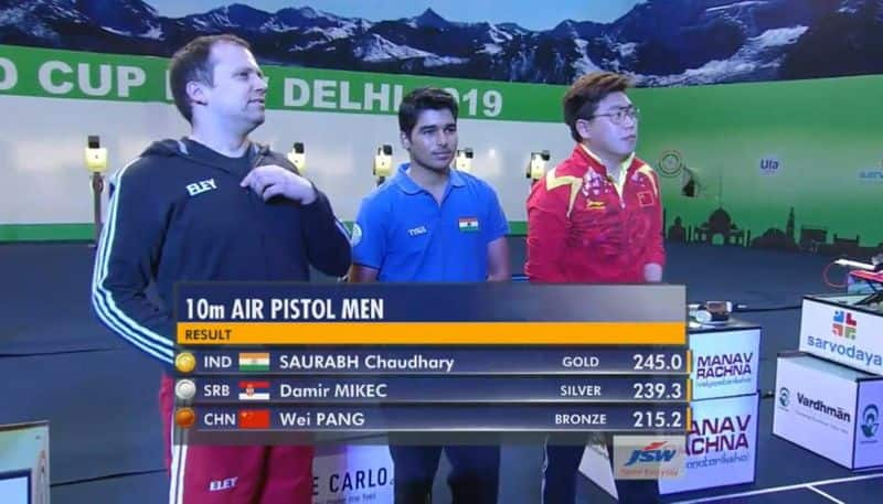 ISSF Shooting World Cup: Saurabh Chaudhary bags first senior gold with world record