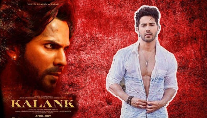 varun dhawan's first lookout from kalank movie