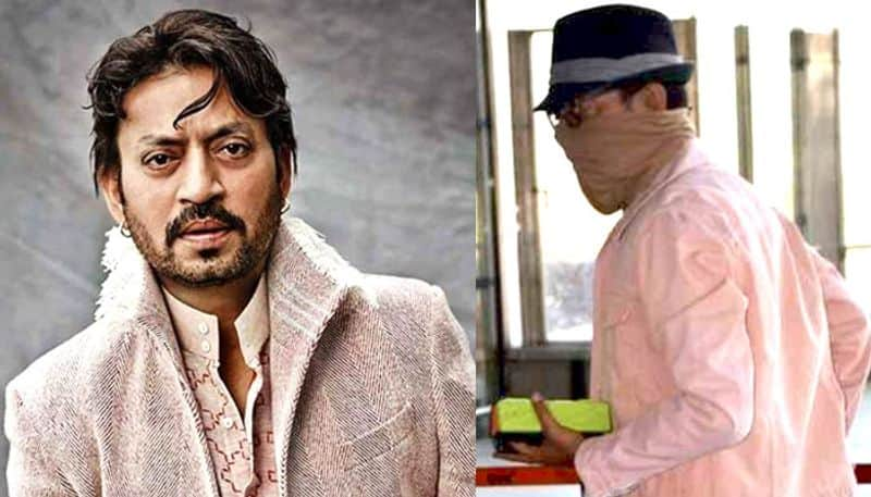 First photos: Post cancer treatment Irrfan Khan spotted at Mumbai airport; covers his face