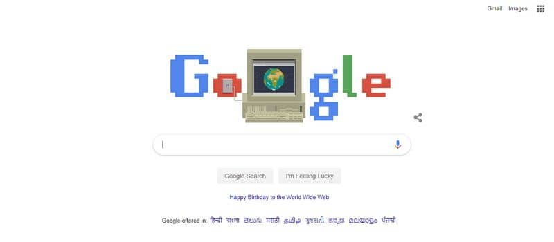 Google marks World Wide Web 30th year with doodle