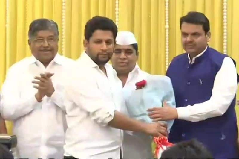 Big Jolt to Congress: Maharashtra Leader of Opposition son, Sujay Vikhe Patil joins BJP