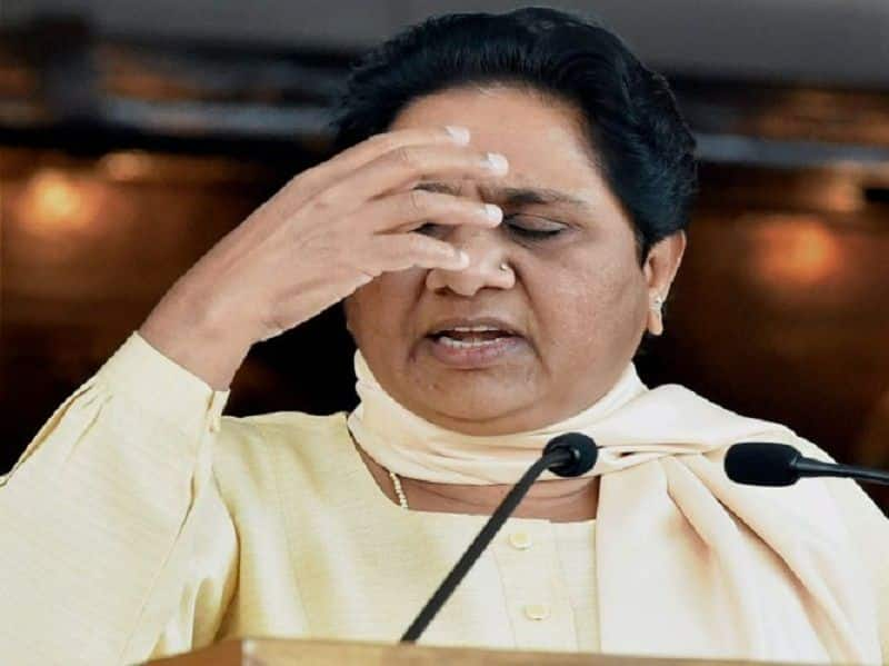 set back to bsp supremo mayawati as election commission issues 48 hour gag order