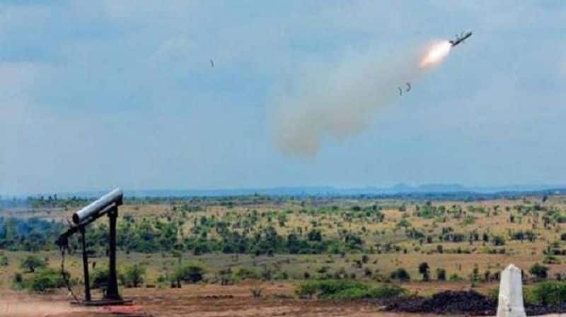 DRDO test fired Anti-Tank Guided Missile MP-ATGM in the Rajasthan desert