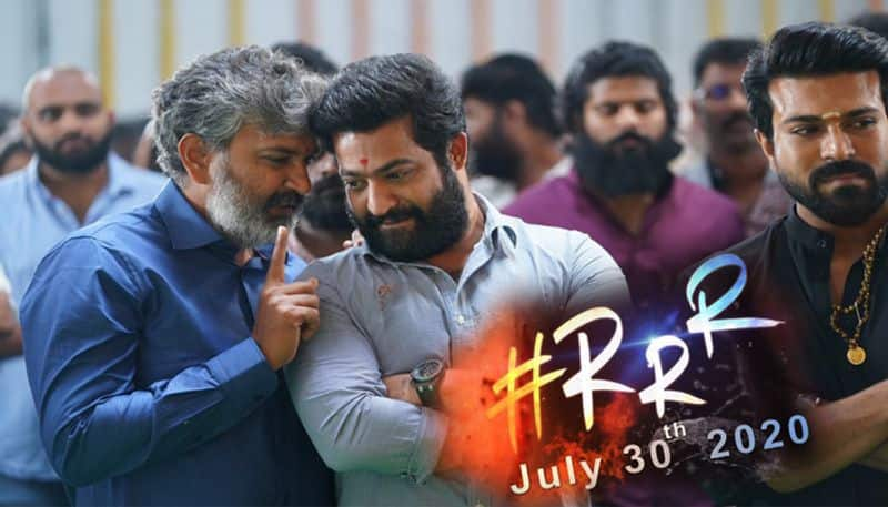 rajamouli rrr movie title and first look poster released in august 15th?