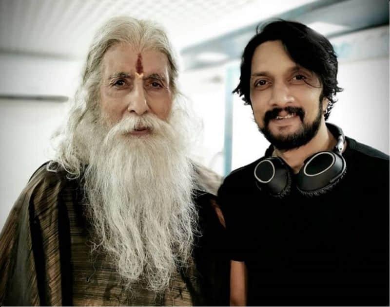 Kichcha Sudeep shares priceless moment with Amitabh Bachchan from Sye Raa shooting set