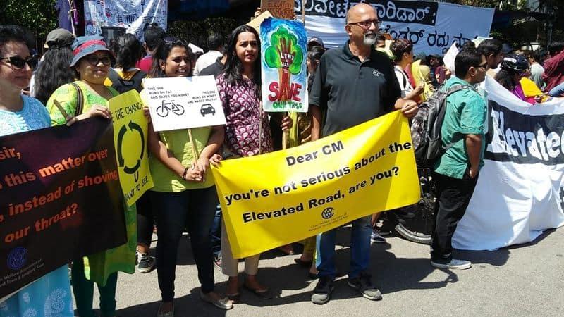Bengaluru protests against Karnataka government's Elevated Corridor project