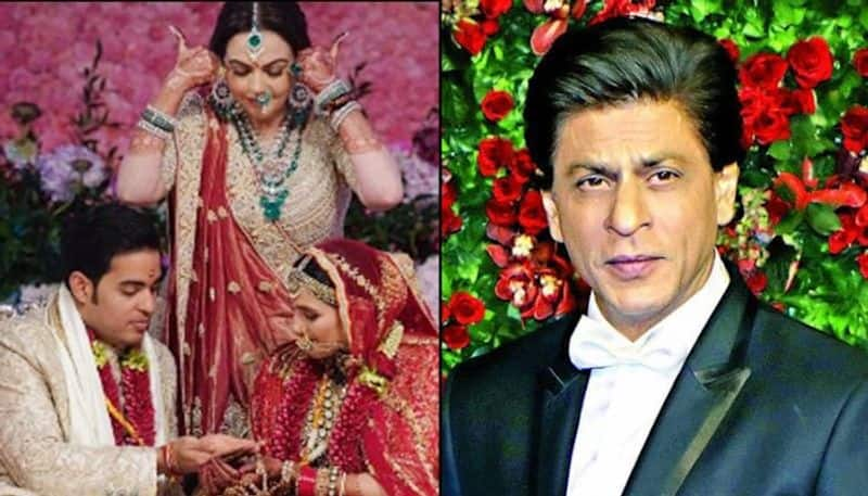 shah rukh khan was insulted by akash ambani in his wedding?