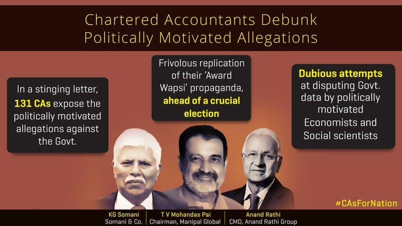 CAsForNation Chartered Accountants expose hoax of data jugglery by fake economists