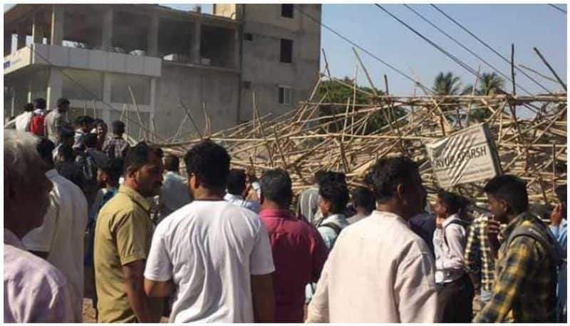 Dharwad building collapse toll touches seven 15 20 people trapped rubble