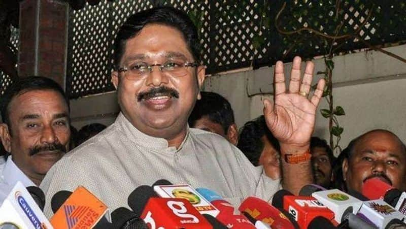 TTV Dhinakarans party take wife convicted AIADMK leader