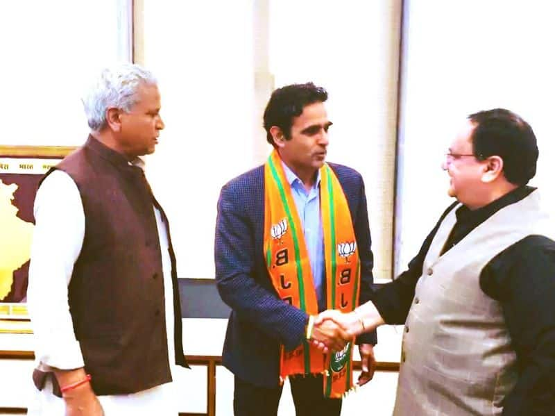 Major surendra Poonia joined BJP, contest may election from Rajasthan