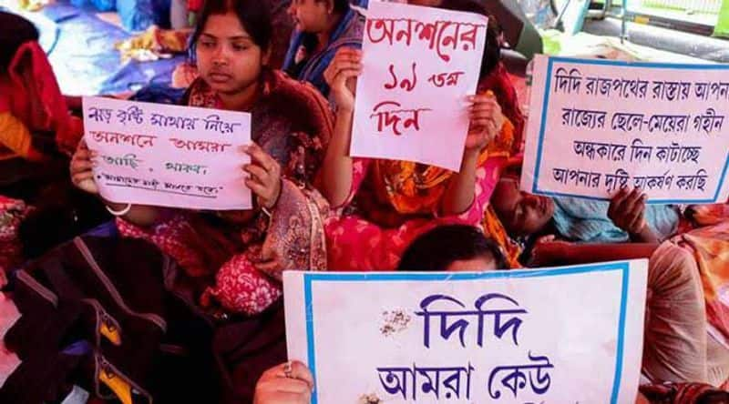 Mamata government bullies job seekers on hunger strike as local media parties