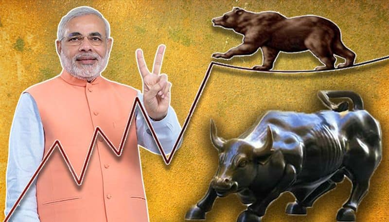 Indian Share market is showing that Modi government is returning in power