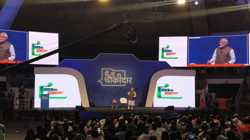 Main Bhi Chowkidar: Prime Minister Narendra Modi interaction with people across India
