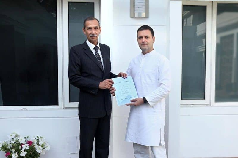 General DS Hooda submitted report to Rahul Gandhi on nation security