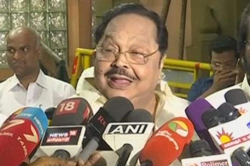 You talked and told me ... I could not have told any history ... Duraimurugan pain