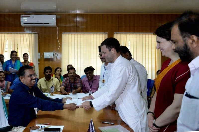 Congress president Rahul Gandhi will file nomination today from wayanad in Kerala