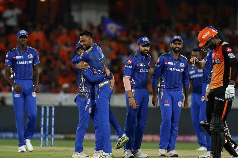mumbai indians beat sunrisers in super over and qualified for play off