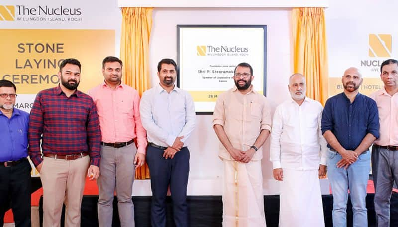 legislative assembly speaker p sreeramakrishnan laid foundation stone of the nucleus willingdon island hotel project