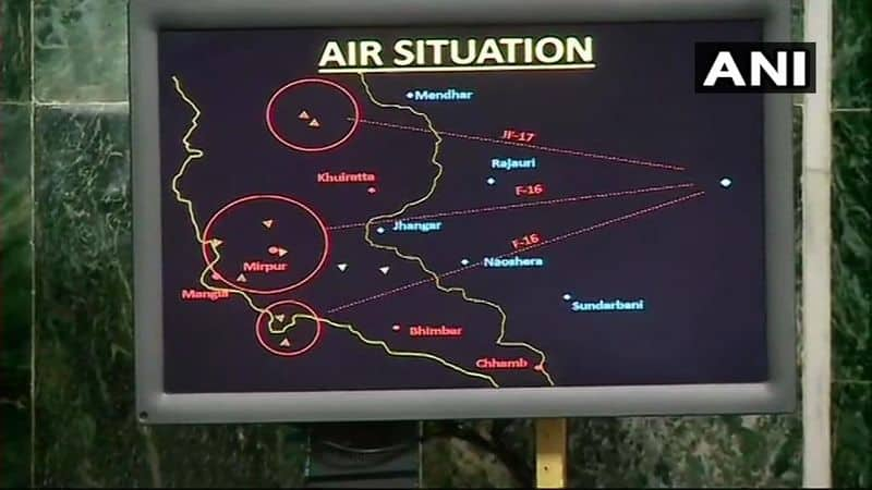IAF shows AWACS radar images of Pak F-16 being shot down during dogfight over LoC