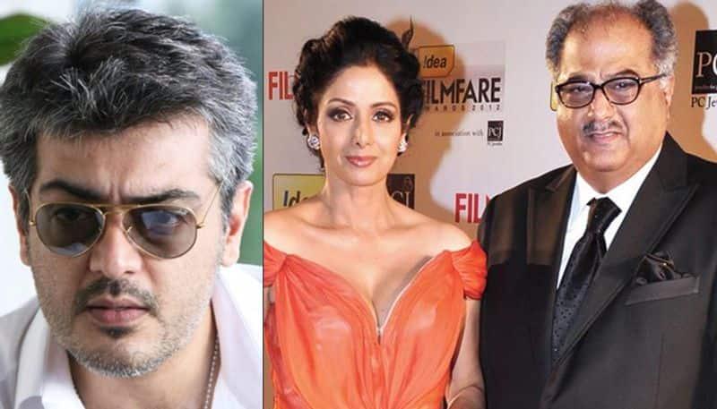 Boney Kapoor pays homage to Sridevi, invites Tamil star Ajith to Bollywood
