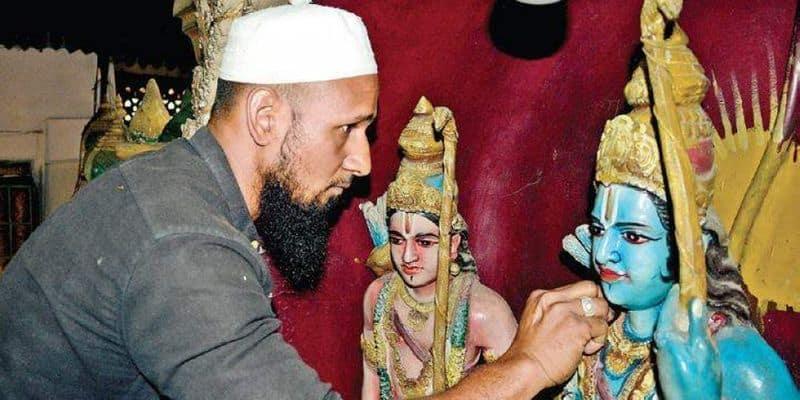 Bengaluru-based Saddam Hussein keeps Ram temple clean ahead of Ram Navami Rajajinagar temple