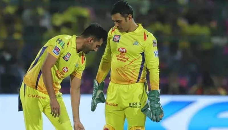 dhoni got angry on deepak chahar due to missed catch for rishabh pant