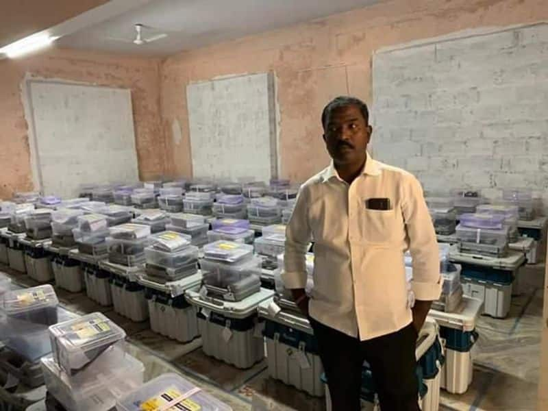 TRS Polling Agent Arrested After Taking Photograph Inside Strongroom