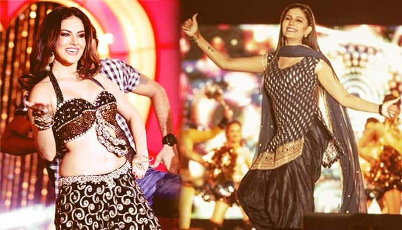 sunny leone latest dance video challenges sapna choudhary viral song number