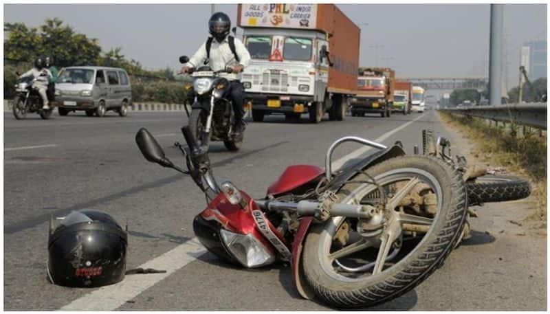 bike accident...bridegroom is dead