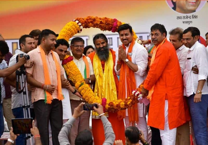 elections campaign baba ramdev gives reason why india secure under modi