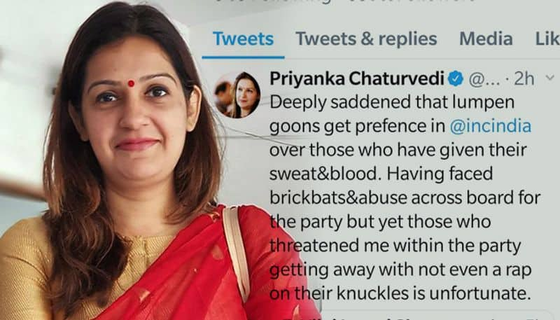 Congress Spokesperson Priyanka Chaturvedi hits out at party for reinstating leaders who misbehaved with her