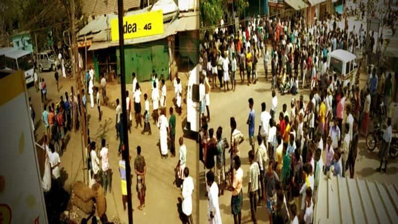 Faction against former minister Vijayabaskar .. the illusion broken in the demonstration