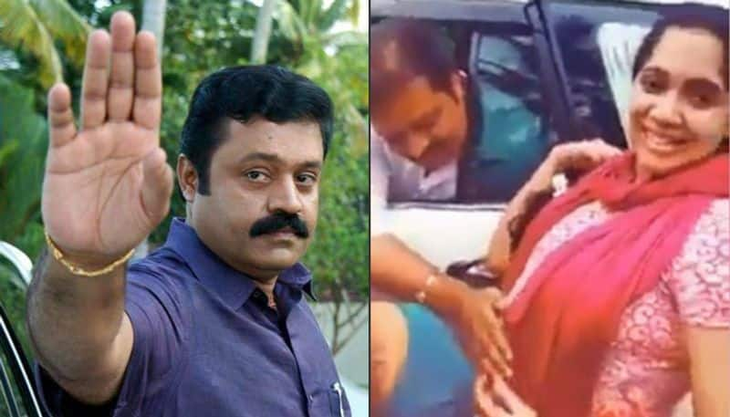 Suresh Gopi trolled for touching baby bump of fan
