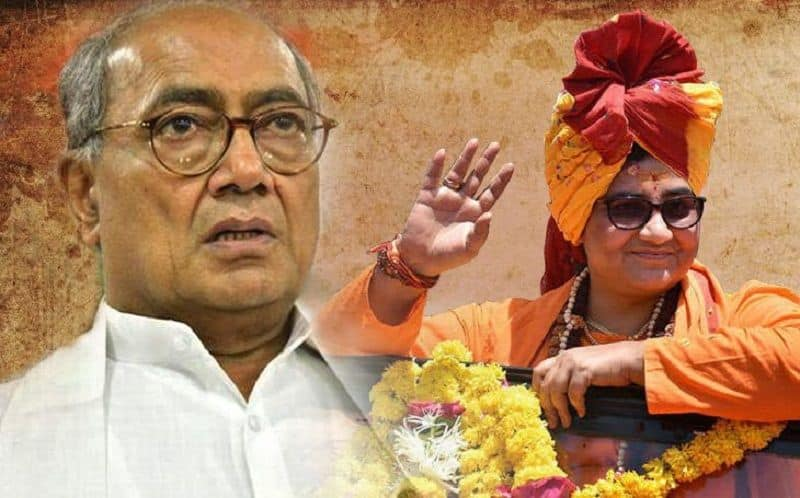 Congress played sant card for counter sadhvi pragya effect in Bhopal and other seats