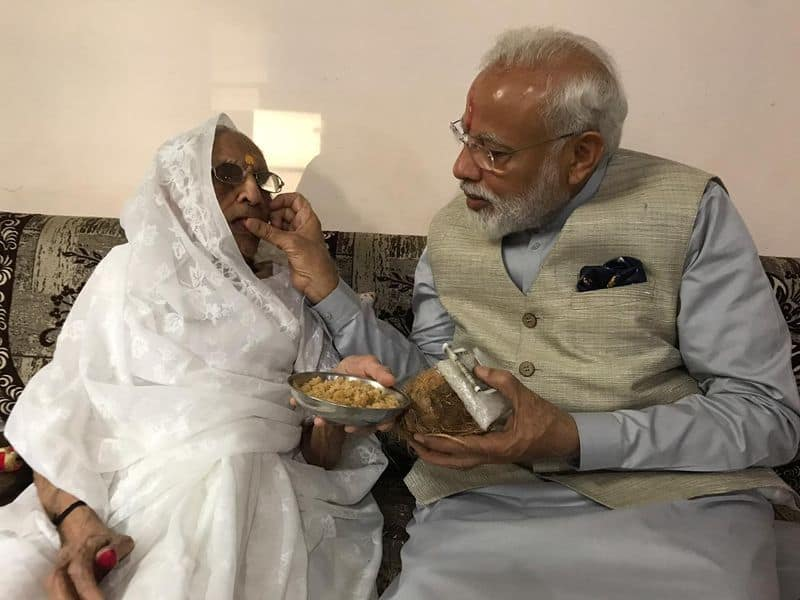 My mother takes nothing but gives sawa rupaye every time I meet her PM Modi