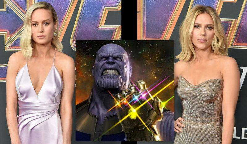 Are you even an Avengers fan if you arent wearing Infinity Gauntlet like Brie Larson Scarlett Johansson