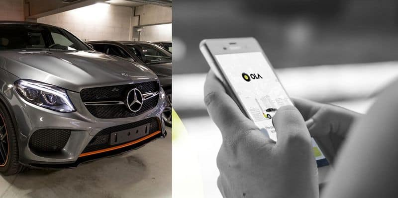 Ola cabs will use Mercedes Benz BMW and Audi for self drive cars