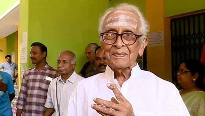 Kerala 105 year old native reaches polling station never once missed casting vote