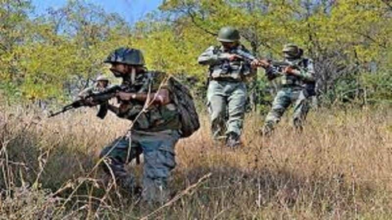 Security forces shoot down two terrorists in jammu-kashmir